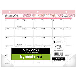 AT A GLANCE Blush Monthly Desk