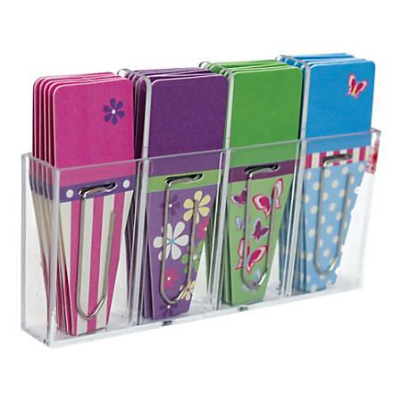 """Clip-Rite™ Clip-Tabs™, 1/2"""", Fuchsia/Lime/Orange/Purple, Pack Of 24"""