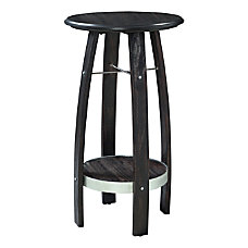 Powell Damude Round Plant Stand Side