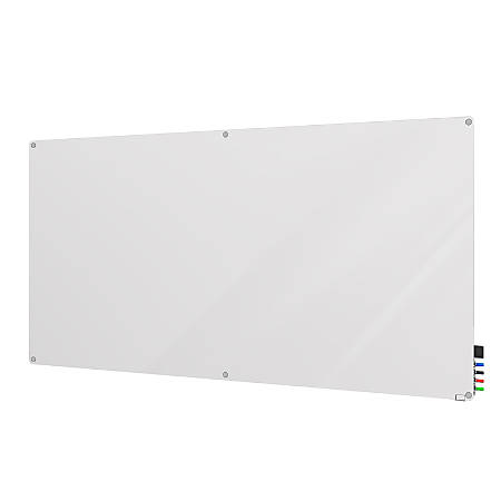 "Ghent Harmony Magnetic Glass Board with Radius Corners, 48"" x 60"", White"