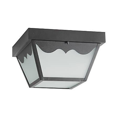 Luminance LED Square Ceiling Light, 12 Watts, 4000K/Cool White, 1100 Lumen, Black/Frosted Glass