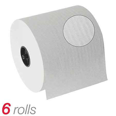 """Georgia-Pacific SofPull® Hardwound Paper Towel Rolls, 1-Ply, 7-7/8"""" x 1,000', 100% Recycled, White, Carton Of 6"""