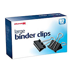 OIC Binder Clips Large 2 Black