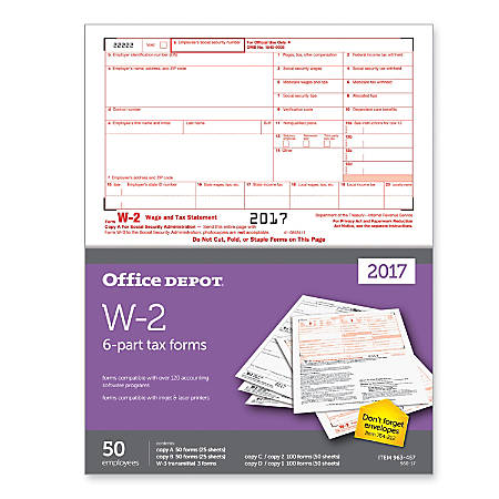 W 2 Tax Forms At Office Depot