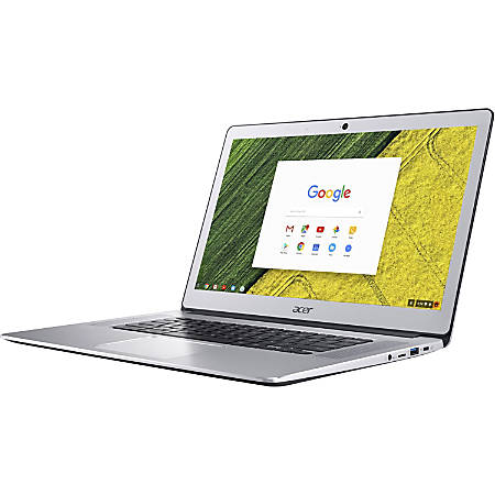 "Acer CB515-1H-C3MD 15.6"" LCD Chromebook - Intel Celeron N3350 Dual-core (2 Core) 1.10 GHz - 4 GB LPDDR4 - 32 GB Flash Memory - Chrome OS - 1920 x 1080 - In-plane Switching (IPS) Technology, ComfyView - Pure Silver"