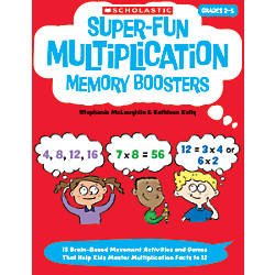 Scholastic Super Fun Multiplication Memory Boosters