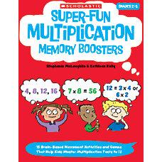 Scholastic Super Fun Multiplication Memory Boosters