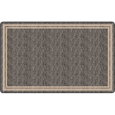 "Flagship Carpets Double-Border Rectangular Rug, 90"" x 144"", Gray"