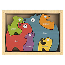 BeginAgain Toys Dog Family Bilingual Puzzle