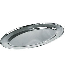 Winco Oval Stainless Steel Platter 14