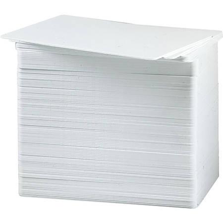 Fargo UltraCard PVC Cards, Blank, CR-80, White, Pack of 500