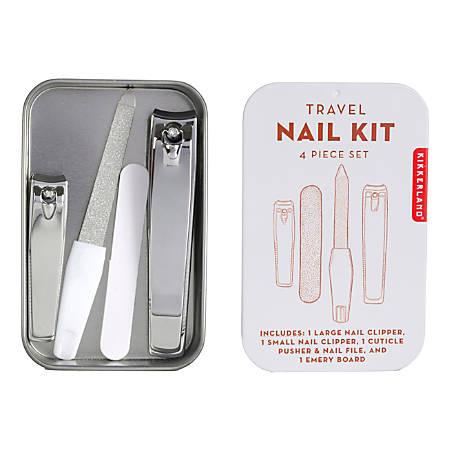 Kikkerland Design Travel Nail Kit, Assorted Colors