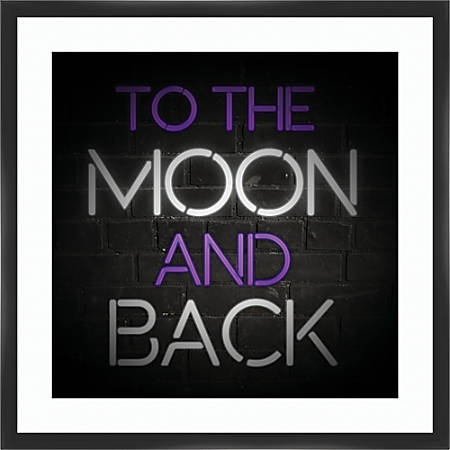 "PTM Images Framed Art, To The Moon, 26""H x 26""W"