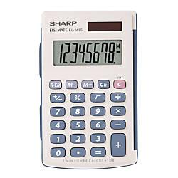 Sharp EL 243SB 8 Digit Pocket