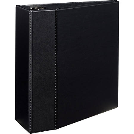 "Avery® EZD-ring DuraHinge Durable Binder - 5"" Binder Capacity - Letter - 8 1/2"" x 11"" Sheet Size - 1050 Sheet Capacity - 3 x D-Ring Fastener(s) - 4 Internal Pocket(s) - Poly - Black - Recycled - 1 Each"
