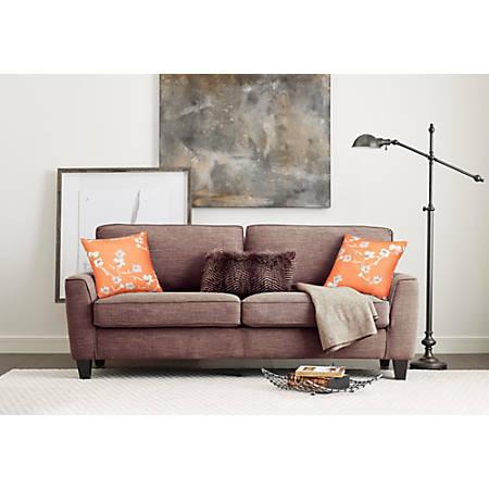 "Serta Astoria Deep-Seating Sofa, 78"", Tan/Espresso"