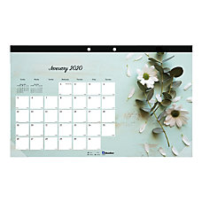 Blueline Romantic Monthly Coloring Desk Pad