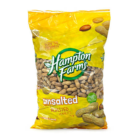 Hampton Farms Unsalted Roasted Peanuts, 5-Lb Bag