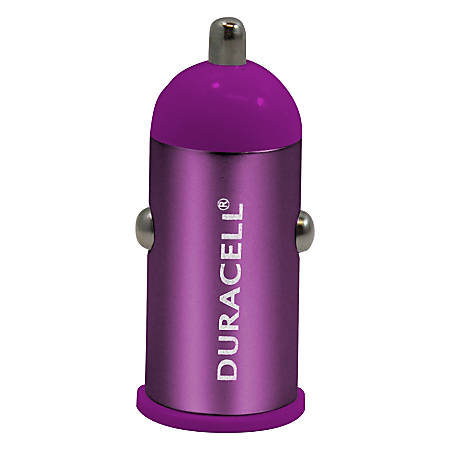 Duracell® Mini Car Charger For USB, Purple, LE2147