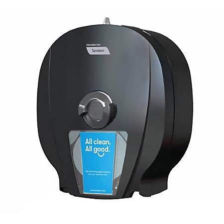 """Tandem® X4 High-Capacity Bath Tissue Dispenser, 15 7/16""""H x 6 5/8"""" x 13 5/8""""D, Black"""