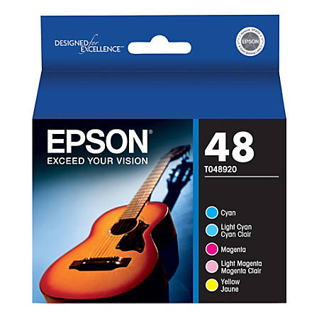 Epson® T0489 (T048920) Color Ink Cartridges, Pack Of 5