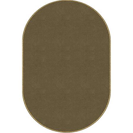 "Flagship Carpets Americolors Rug, Oval, 7' 6"" x 12', Almond"