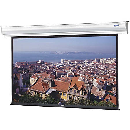 """Da-Lite Contour Electrol 136"""" Electric Projection Screen - Yes - 1:1 - Matte White - 96"""" x 96"""" - Ceiling Mount, Wall Mount"""