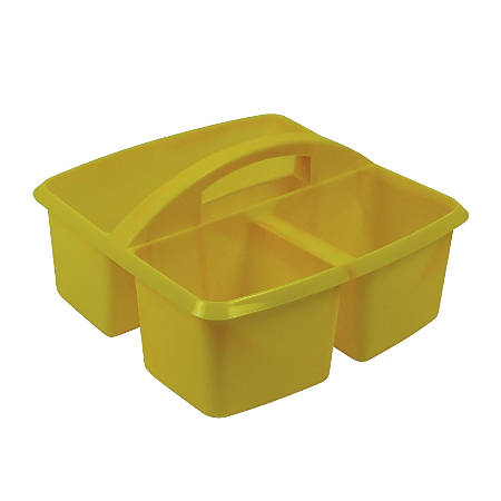 "Romanoff Small Utility Caddies, 9 1/4""H x 9 1/4""W x 5 1/4""D, Yellow, Pre-K - College, Pack Of 6"