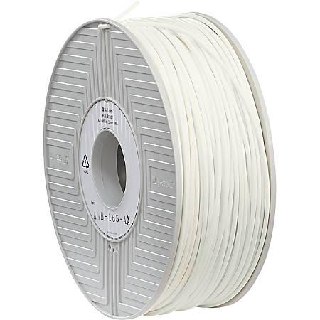 "Verbatim 3D Printer ABS Filament, White, 0.11"""