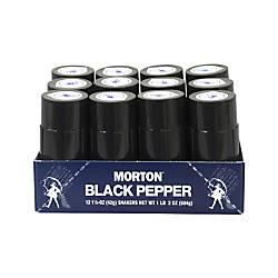 Morton Restaurant Style Black Pepper Shakers