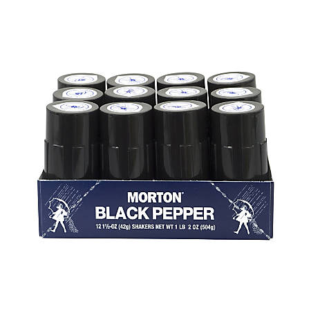 Morton Restaurant-Style Black Pepper Shakers, Pack Of 12 Shakers