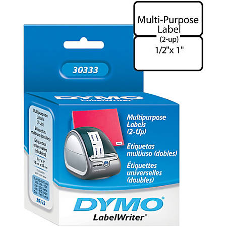 "DYMO® LW Multi-Purpose Labels, 2234024, 1/2"" x 1"""