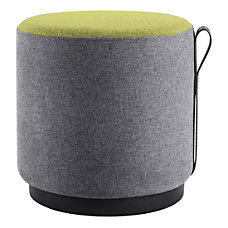 Lorell Contemporary Round Ottoman GrayGreen