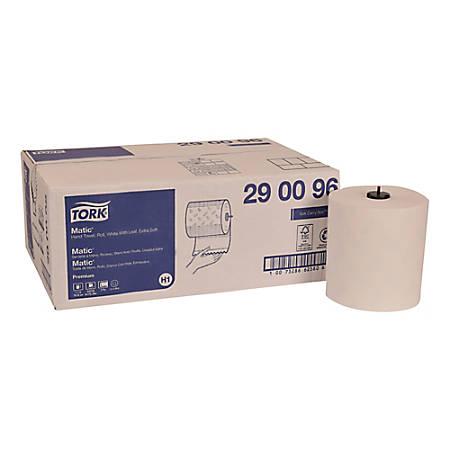 "Tork Premium Soft Matic 2-Ply Hand Towel Rolls, 7-3/4"" x 9-13/16"", White, 704 Sheets Per Roll, Pack Of 6 Rolls"