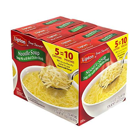 Lipton Noodle Soup Mix, 2 Pouches Per Box, Pack Of 5 Boxes