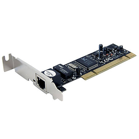StarTech.com Ethernet network adapter card - PCI low profile - EN; Fast EN - 10Base-T; 100Base-TX