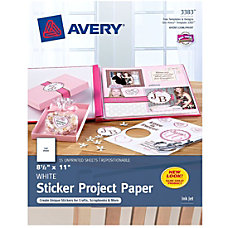 Avery Sticker Project Paper 8 12