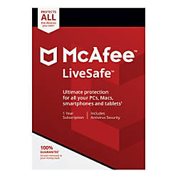 McAfee LiveSafe For PCApple Mac Product