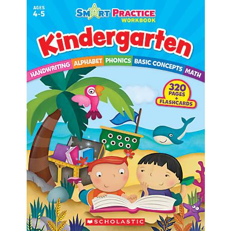 Scholastic Smart Practice Workbook With 48 Flash Cards, Kindergarten