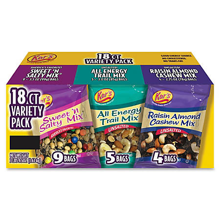 Kar's Nut And Fruit Variety Pack, Box Of 18 Bags