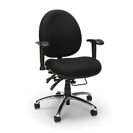 OFM 247 Series 24-Hour Big And Tall Computer Task Chair, Black