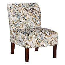 Linon Athens Curved Back Slipper Chair