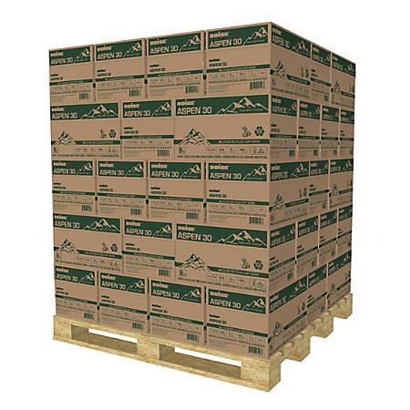 "Boise® ASPEN® 30 Copy Paper, Ledger Size (11"" x 17""), 104 (Euro)/92 (US) (U.S.) Brightness, 20 Lb, 30% Recycled, FSC® Certified, Ream Of 500 Sheets, 5 Reams Per Case, Pallet Of 40 Cases"