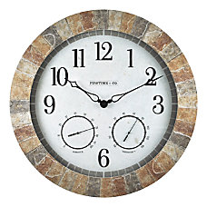 FirsTime Co Sandstone Outdoor Wall Clock