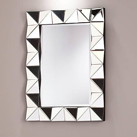 "Southern Enterprises Pollyanna Rectangular Mirror, 31 1/2"" x 23 3/4"", Black"