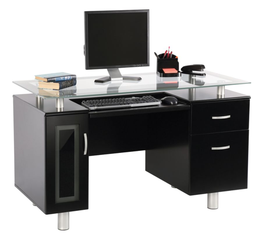 Realspace Sutton Executive Desk Black by Office Depot OfficeMax
