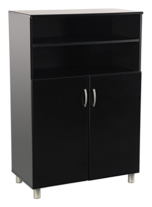 Reale Sutton Storage Cabinet 2 Shelves 47 H X 31 12 W 15 34 D Black By Office Depot Officemax