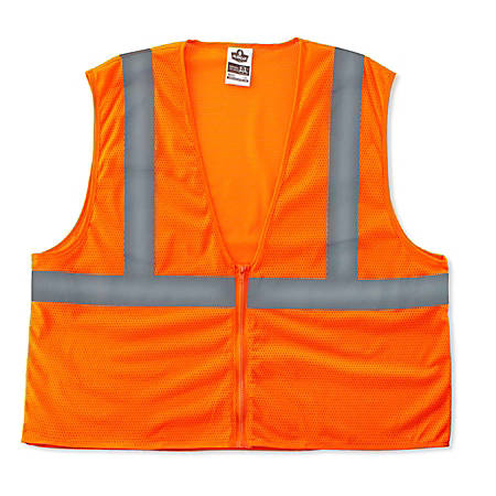Ergodyne GloWear Safety Vest, Super Econo, Type-R Class 2, 4X/5X, Orange, 8205Z