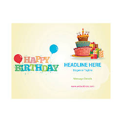 Custom Flyer Horizontal Birthday Party