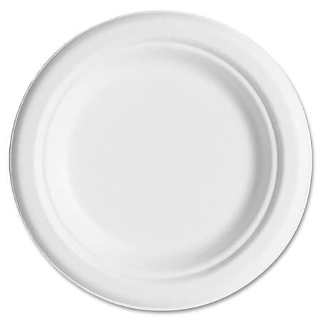 "Eco-Products Sugarcane Plates - 6"" Diameter Plate - Sugarcane Plate - Microwave Safe - 1000 Piece(s) / Carton"